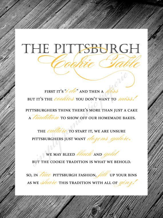 Image result for pittsburgh cookie table