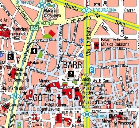 Barcelona Map Barcelona Map Barcelona Map