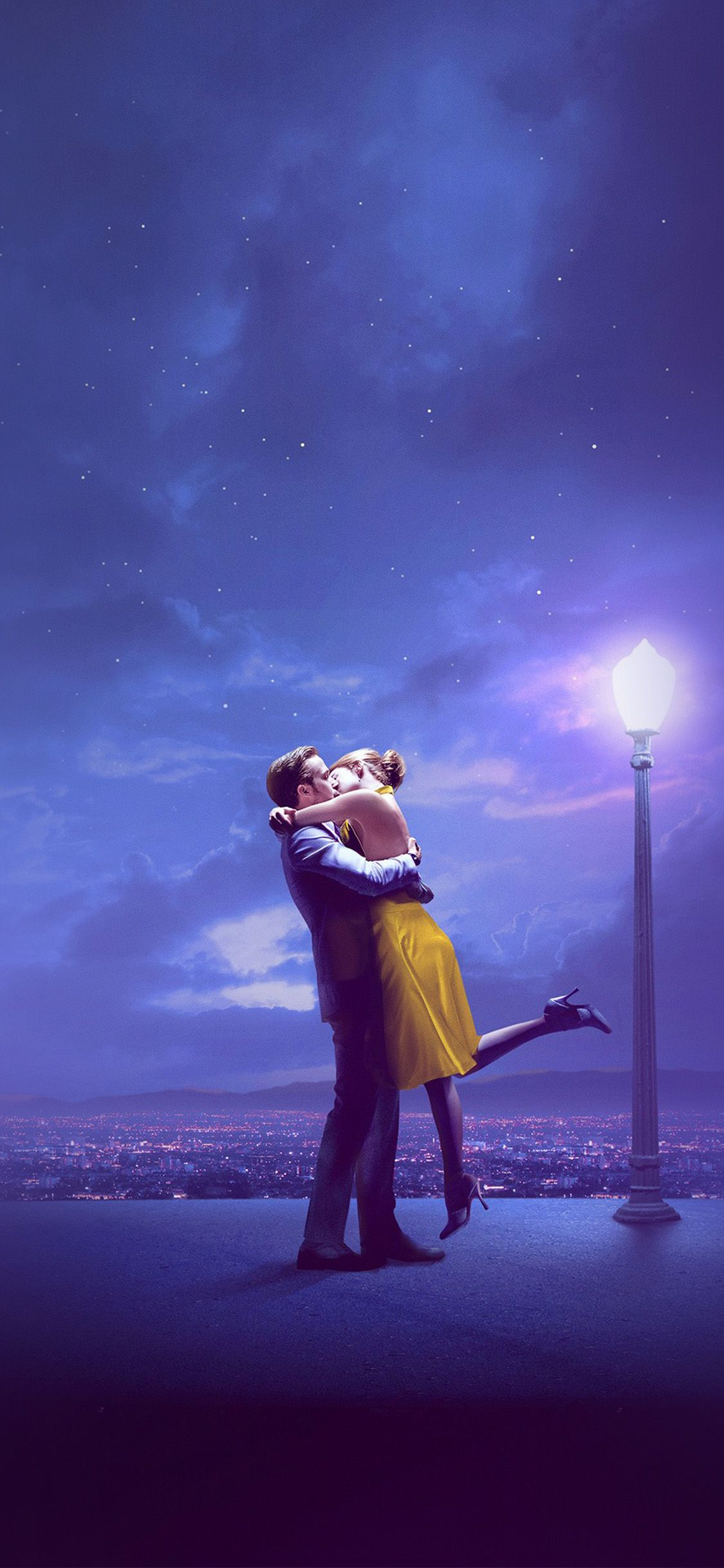 Bg30 Lalaland Film Kiss Blue Art Via Http Iphonexpapers Com Wallpapers For Iphone X La La Land Iphone Wallpaper Movie Movie Wallpapers