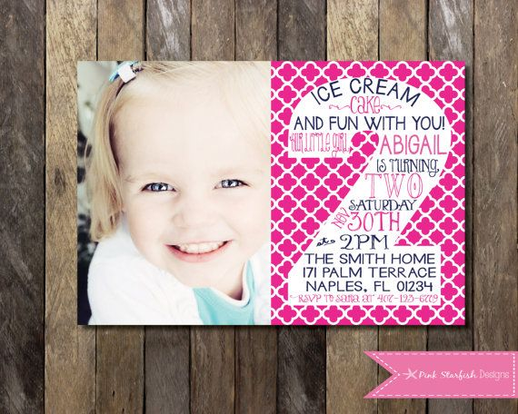 PRINTABLE Second Birthday Invitation With Picture