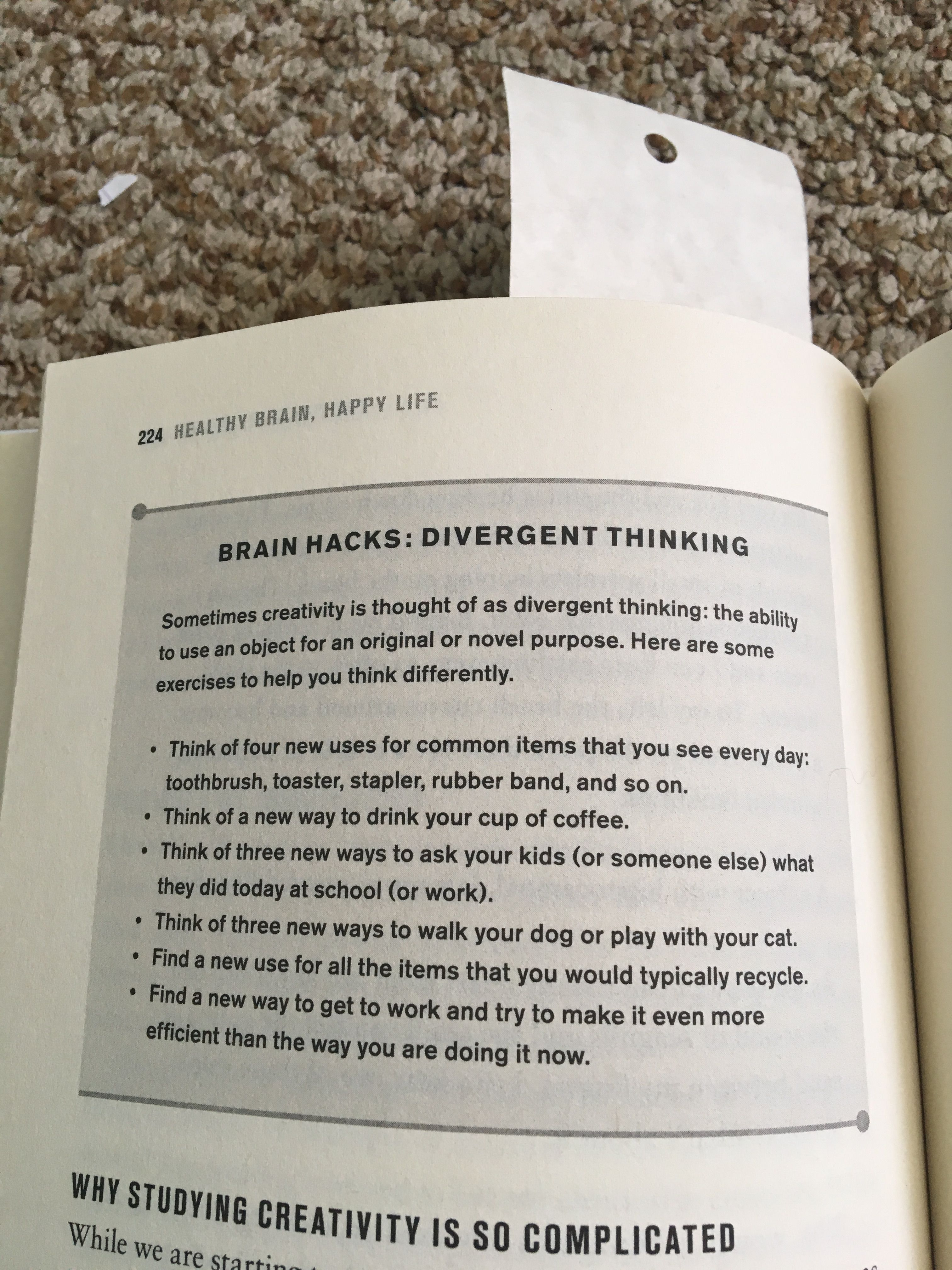 Pin By Tal On Neuroscience And Psychology Divergent Thinking Healthy Brain Happy Life