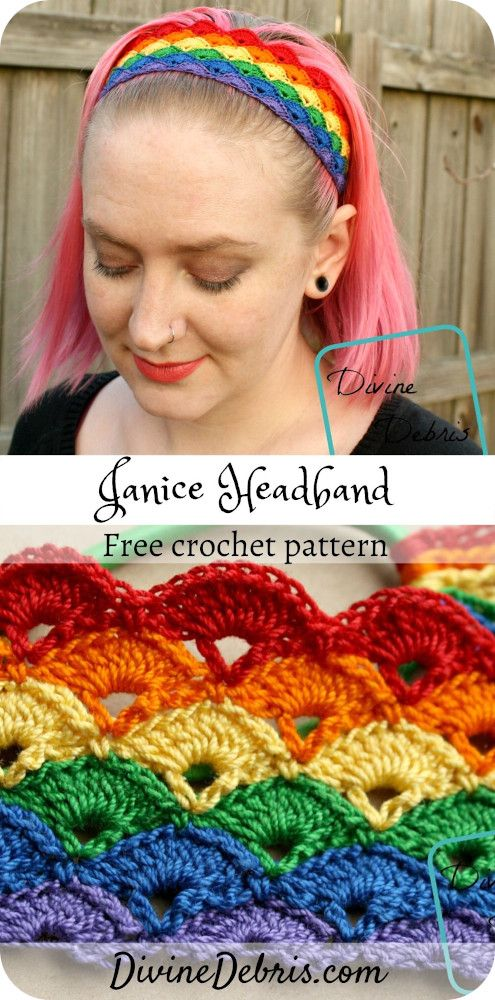 Janice Headband free crochet pattern by DivineDebris.com