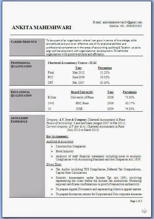 best resume style beautiful curriculum vitae cv format with career objective job profile work - Professional Objective In Resume