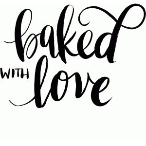 Download Baked with love   Silhouette design, Silhouette cameo ...