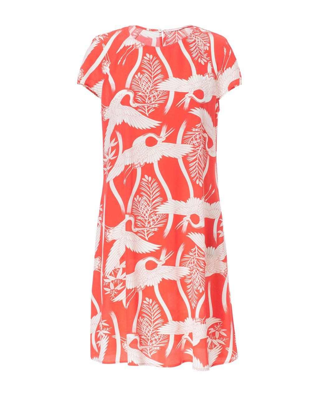 BIRD PRINT DRESS from Zara