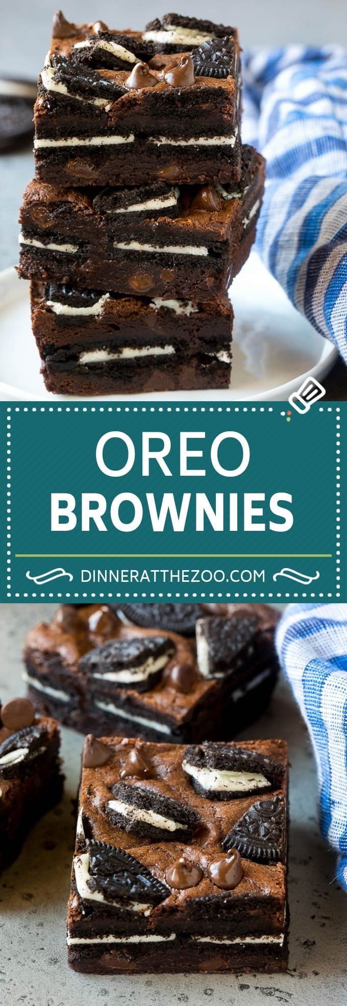 Oreo Brownies - Dinner at the Zoo