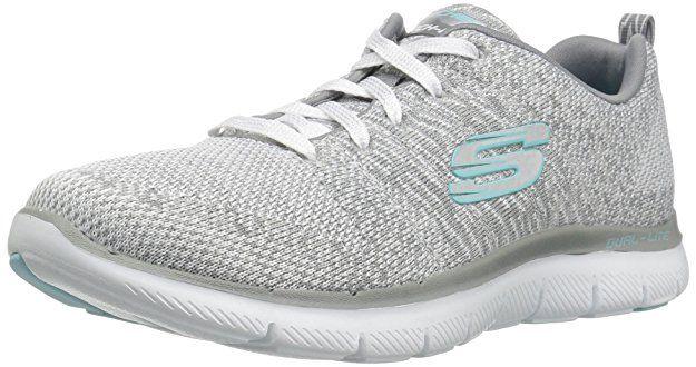 Skechers Flex Appeal 2.0 High Energy Sneaker für Damen Grau