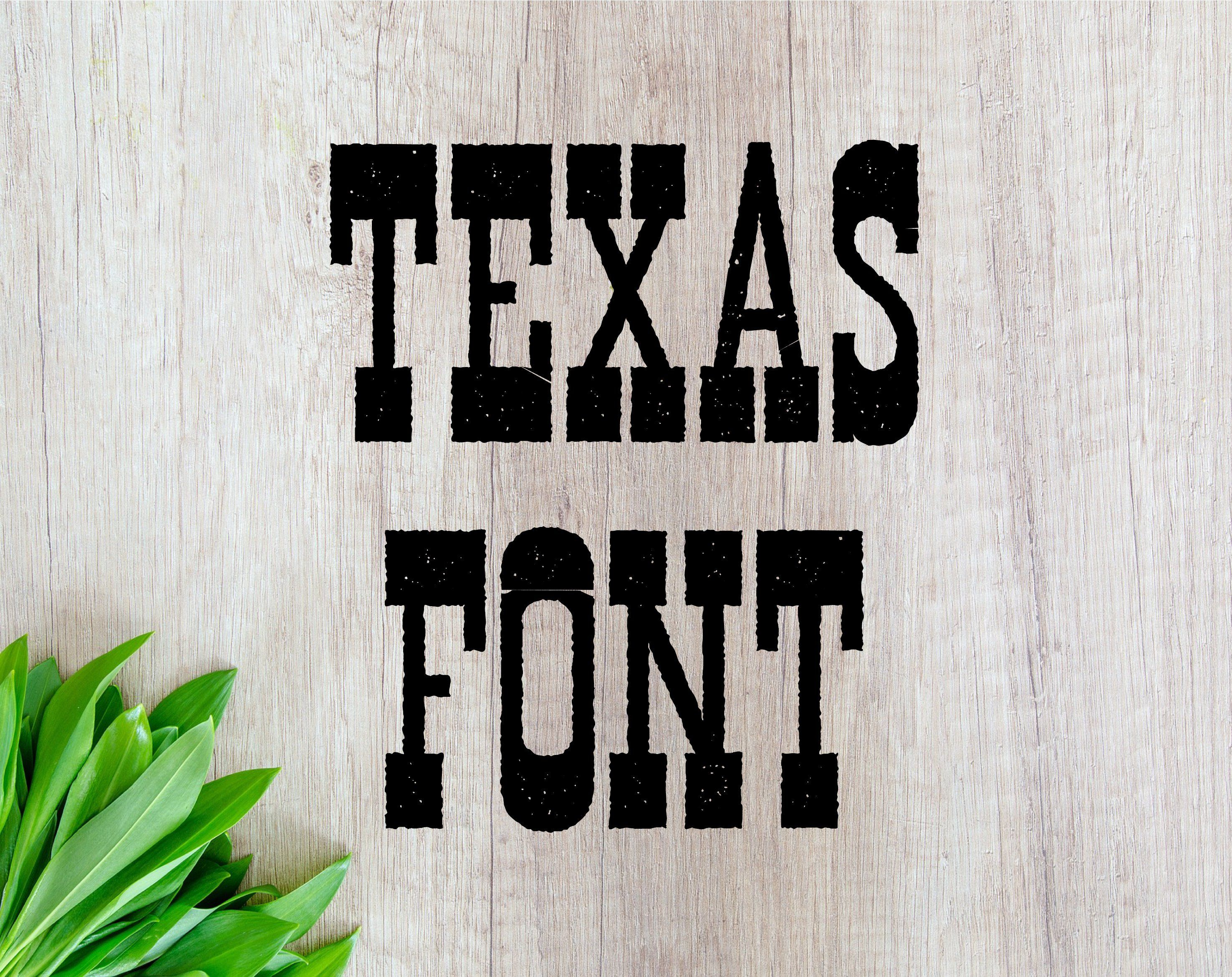 Font For Cricut Font Otf Texas Font Western Font Western