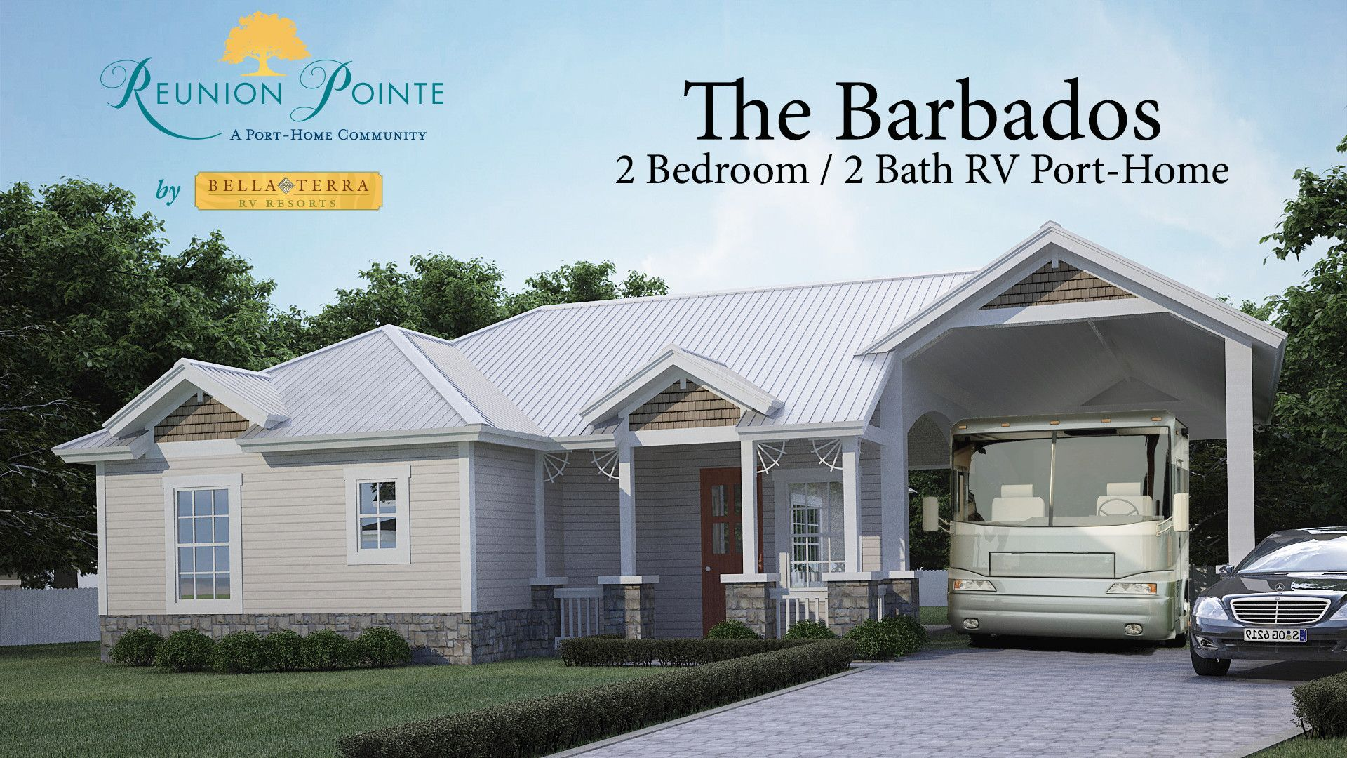 The Barbados  2 bedroom 2 bath RV port home at Reunion Point  Pre. The Barbados  2 bedroom 2 bath RV port home at Reunion Point  Pre
