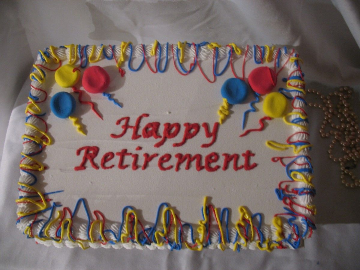 Sheet Cake Decorating Ideas Retirement 9