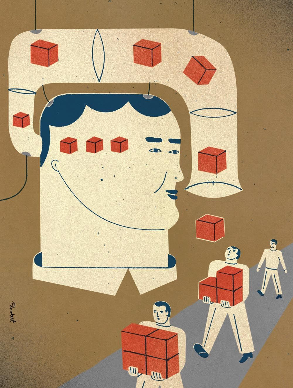 Illustration for an article about student entrepreneurship. Hayes Henderson A.D.