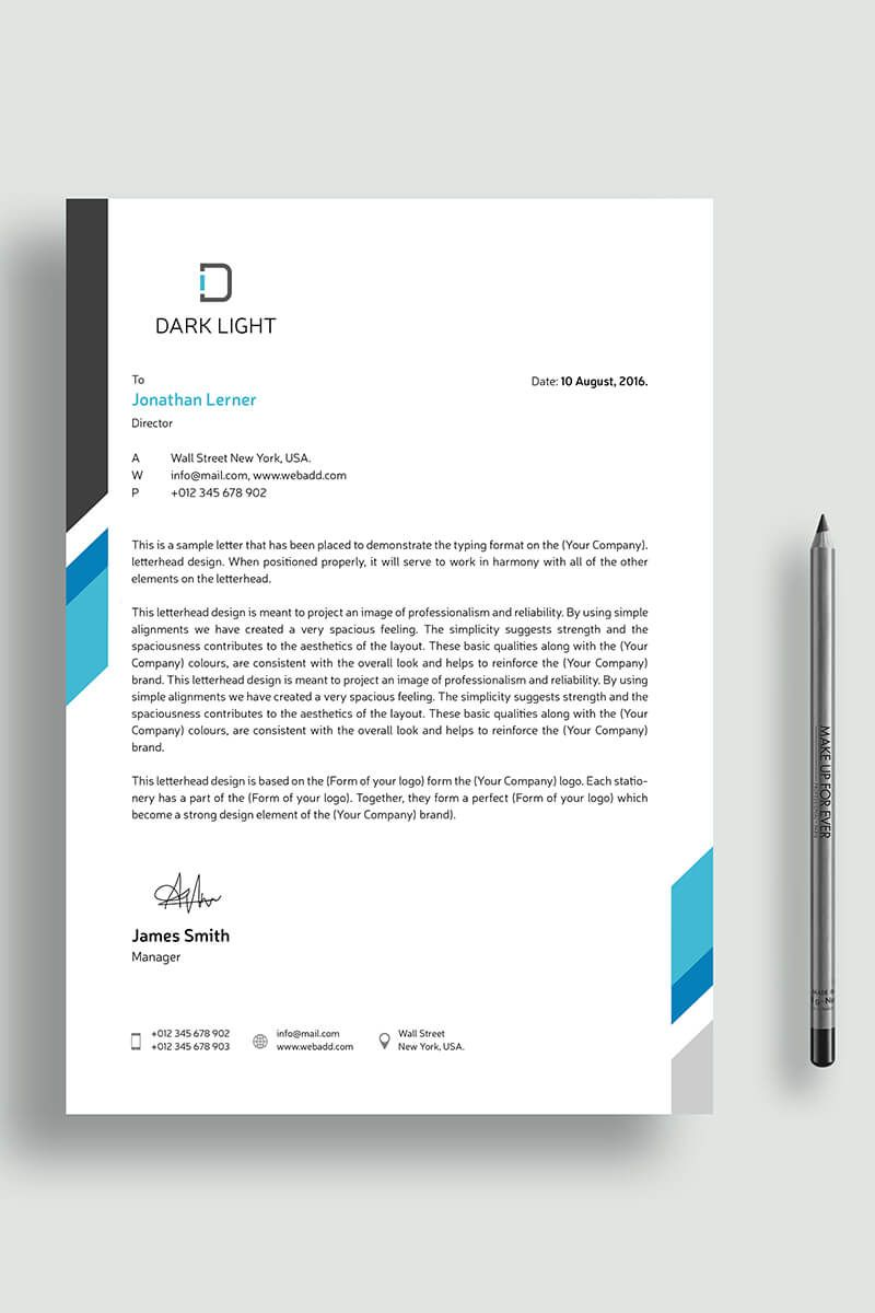 Simple Letterhead Corporate Identity Template Corporateidentity Letterhead Simple Corpo Company Letterhead Template Lettering Letterhead Design Inspiration