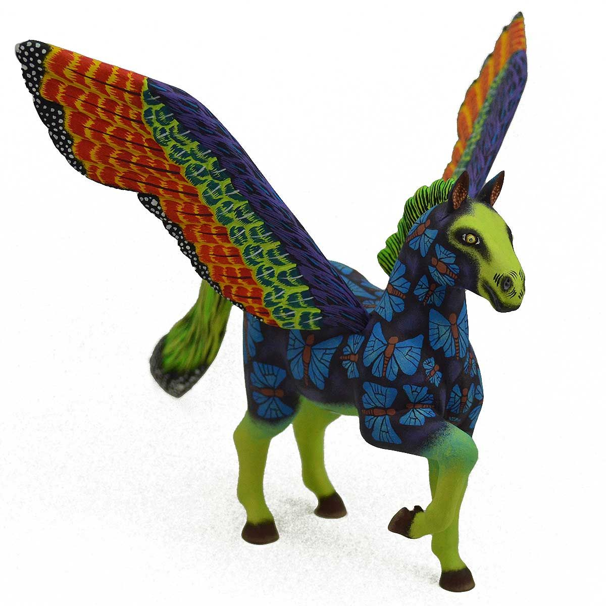 Eleazar Morales Butterfly Pegasus Mexican folk art, La art