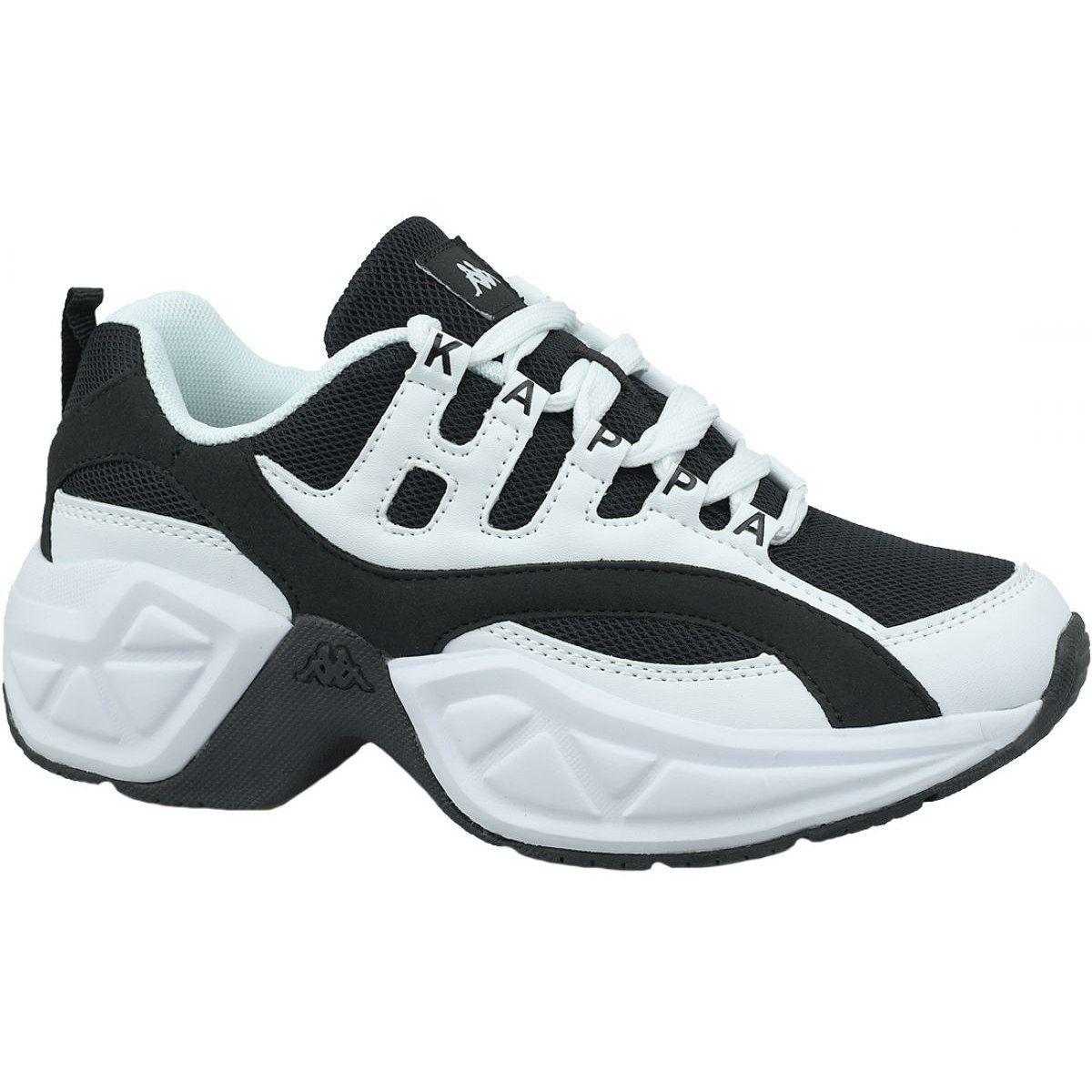 Buty Kappa Overton W 242672 1011 Biale Czarne Shoes Sneakers Sports Shoes