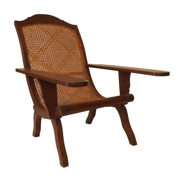 Image of Anglo Indian Caribbean Caned Planter's Chair