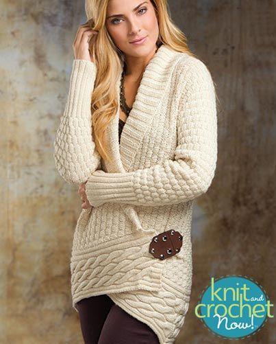 Free knit Alabaster Cardigan pattern download Design by Cheryl ...