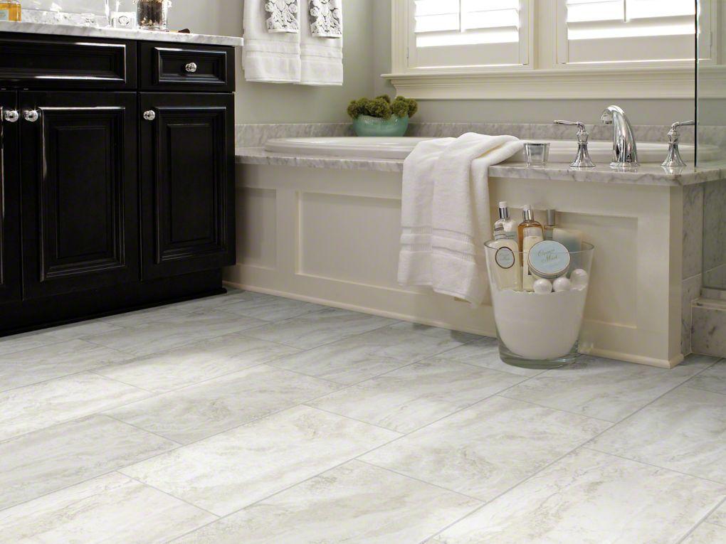 Journey tile 0494v crete resilient vinyl flooring vinyl for Plastic bathroom flooring