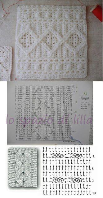 lo spazio di lilla: Punti crochet e ai ferri, perfetti anche per ...