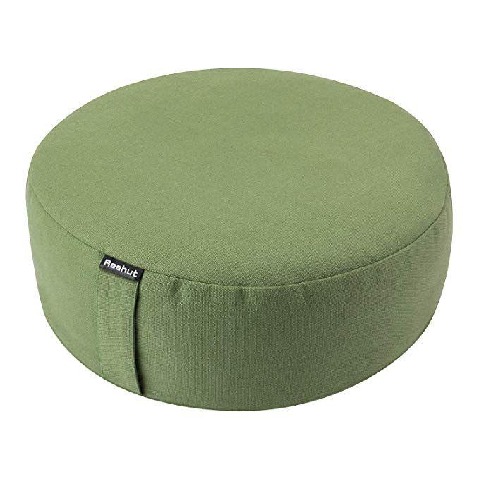 Grey Reehut Yoga Cushion meditation cushions yoga seat pillow Round Diameter