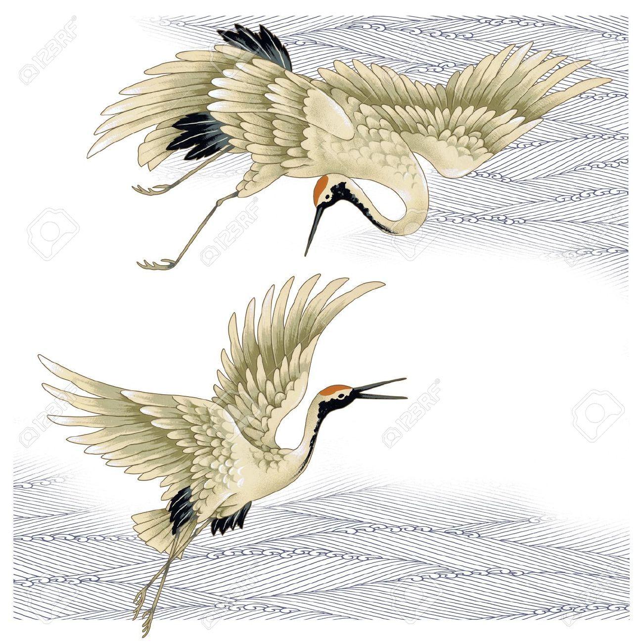 aziatische kraanvogel - Google zoeken | 图案 | Crane tattoo ... - photo#20