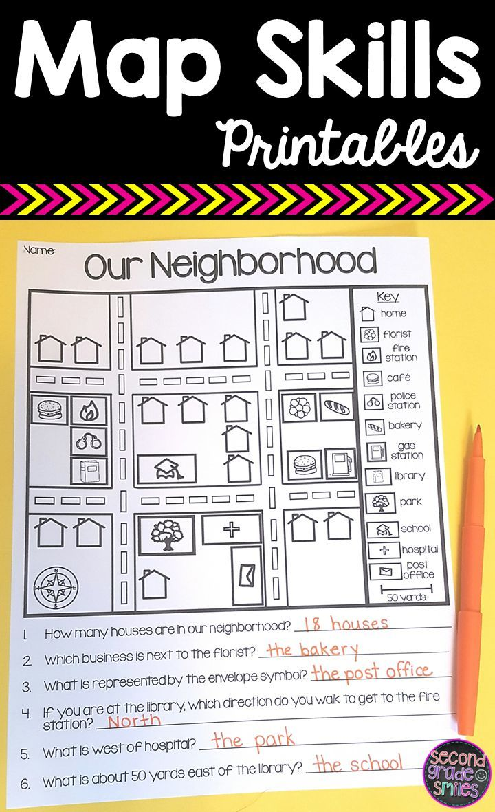 These Map Skills Printables And Activites Are Perfect Practice For 1st 2nd Or 3rd Grade Classro Map Skills 3rd Grade Social Studies Homeschool Social Studies [ 1181 x 720 Pixel ]