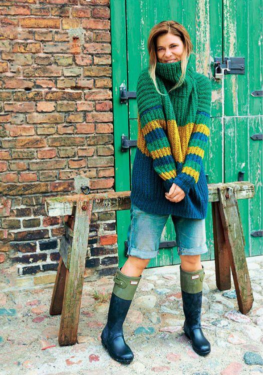 Strickanleitung für gestreiften Oversize Pullover | Pullover