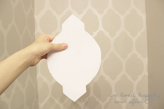 We Lived Happily Ever After: DIY Free Hand Wall Stencil