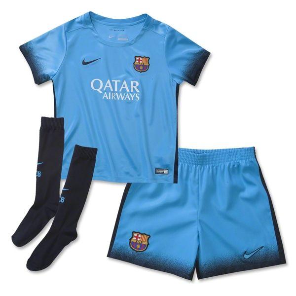 76e6deba2 Barcelona 15 16 Little Boys Third Soccer Kit
