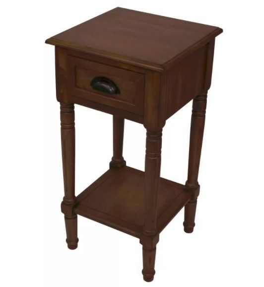 Small Hall Console Table Wooden Rustic Side Tables Storage Shelf