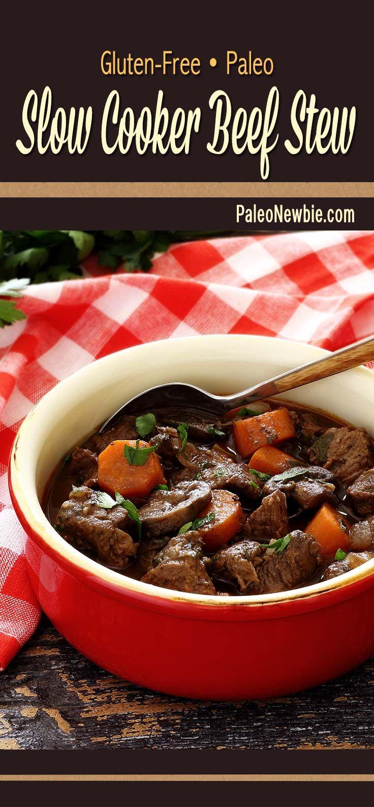 Slow Cooker Paleo Beef Stew Recept Crockpot Recepten Paleo Recepten Slowcooking