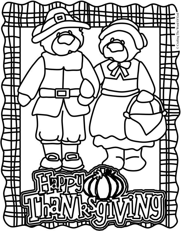 Thanksgiving Coloring Page 2 (Coloring Page) Coloring