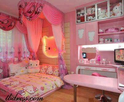 Hello Kitty room for my girls