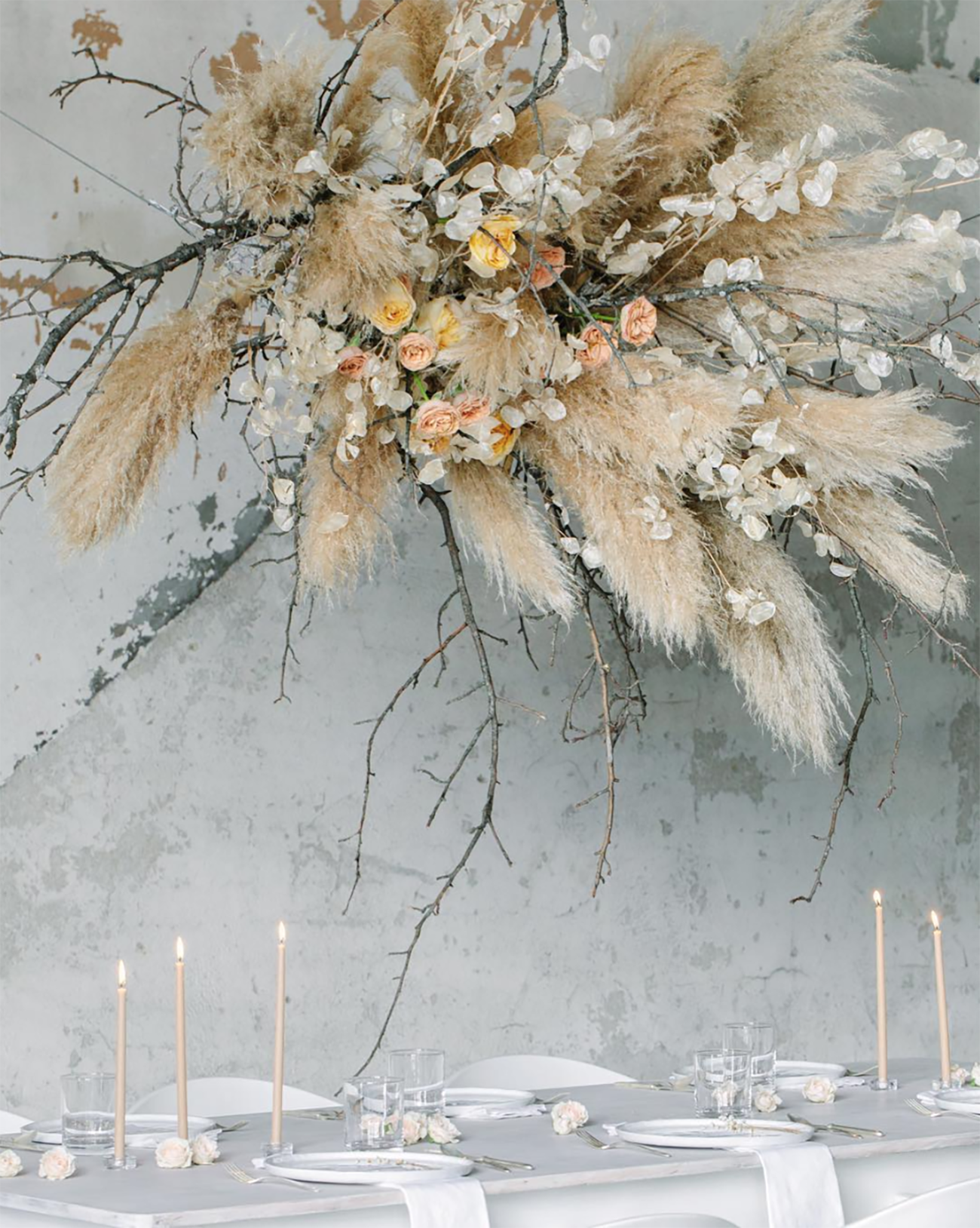 Trending Now: Dried Florals for Your Wedding (And All the Cool Ways to  Incorporate Them!) | Green Wedding Shoes | Flower installation, Floral  arrangements wedding, Wedding flower arrangements