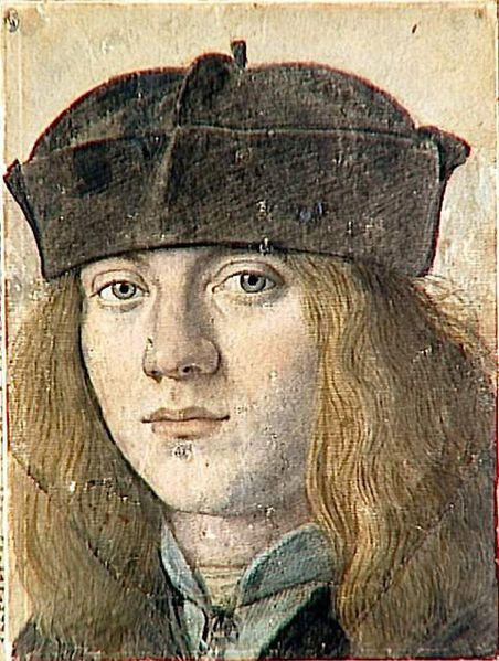 Francesco Melzi 1491 1570 Autoportrait Presume Ca 1510