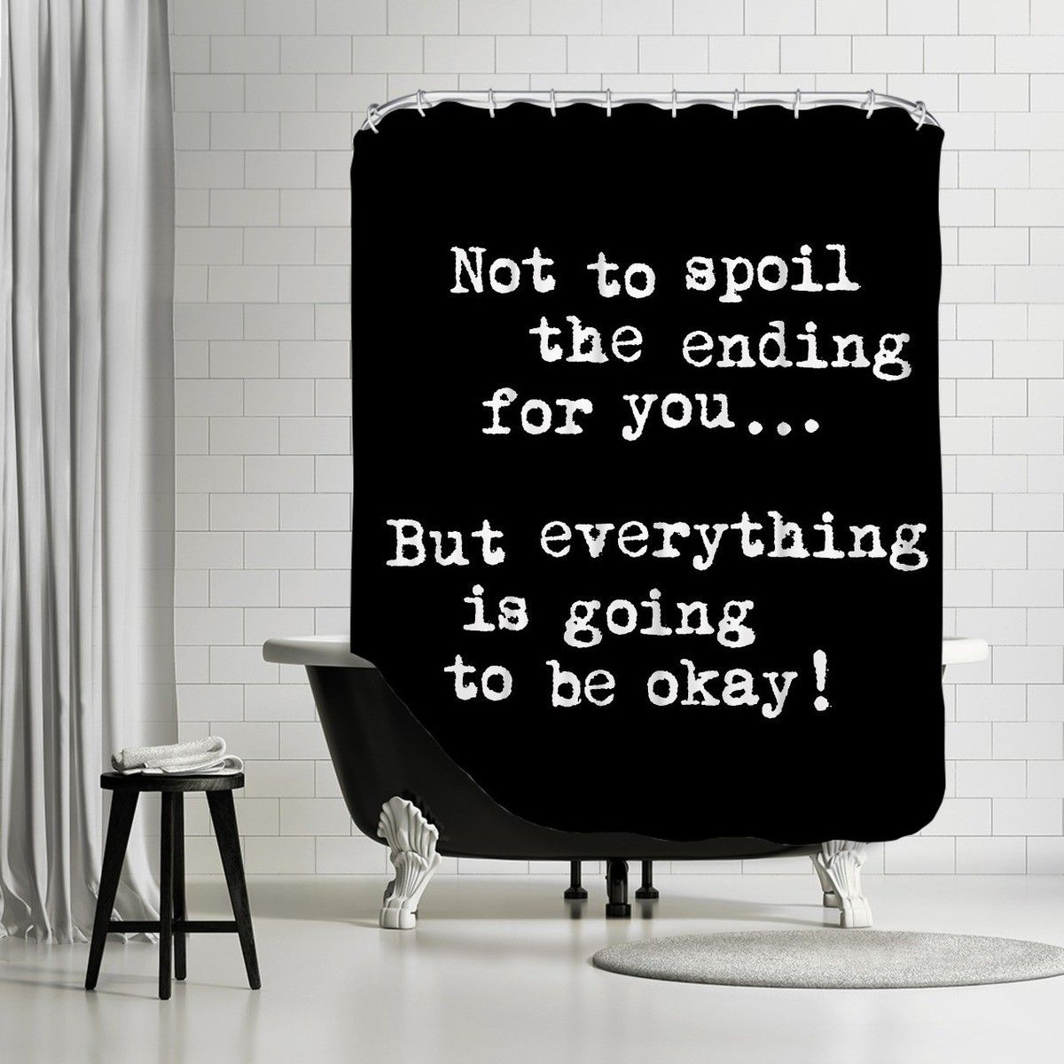 Americanflat Not To Spoil The Ending For You Shower Curtain