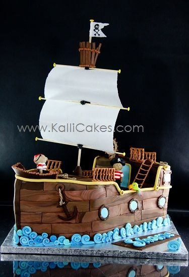 Pirate Ship Pirate ships Cake and Birthdays