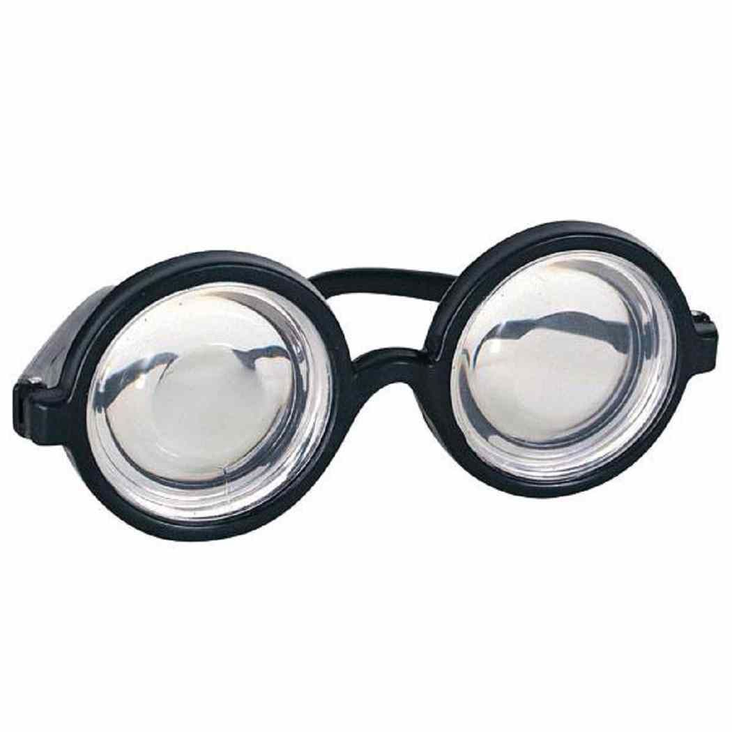 HARRY POTTER Wizard Black Glasses with lenses Round FANCY DRESS Geek Wally Nerd