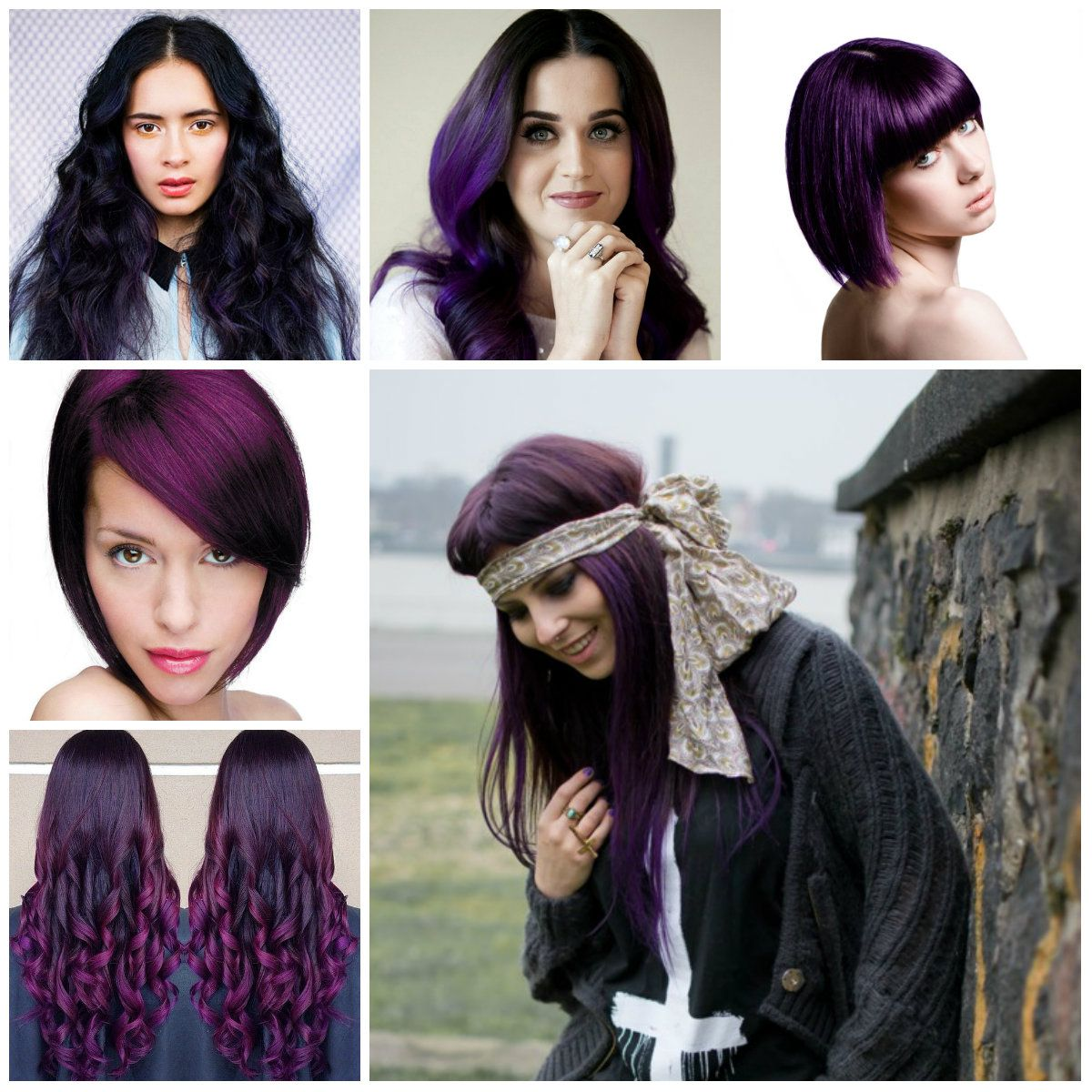 Hairstyles 2016 dark hair - Dark Puple Hair Color 2016