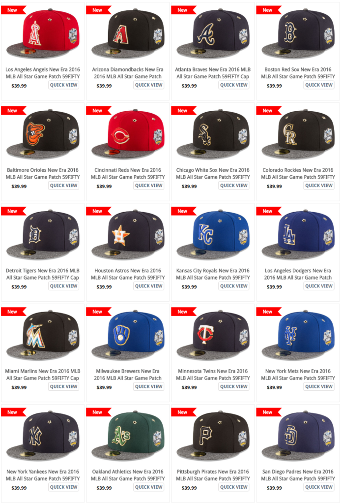 884a9769da5 2016 All Star Game Hats from New Era