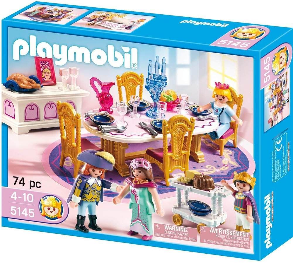 Playmobil 5145 royal banquet room for mansion house for Table playmobil