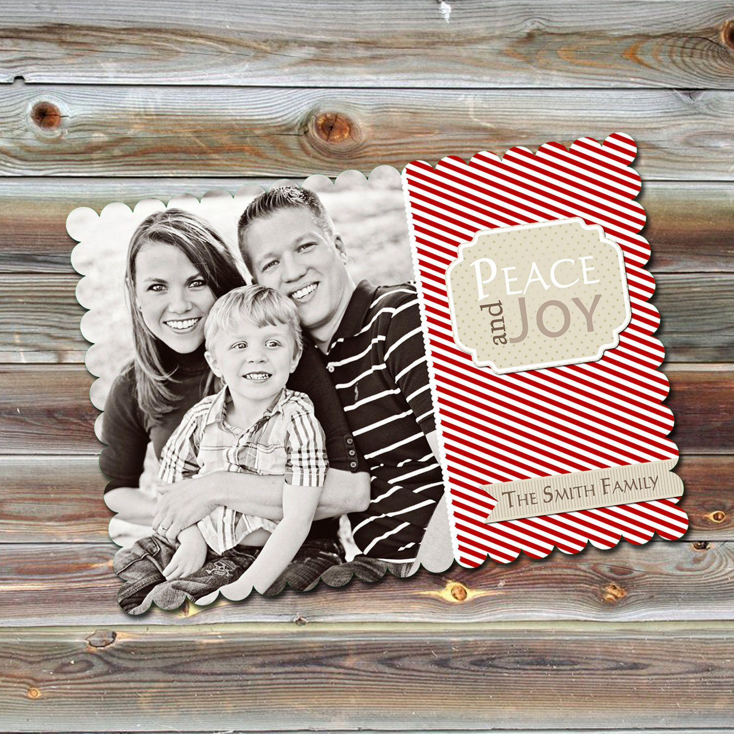 0490 LUXE Christmas Holiday PSD Photo Card