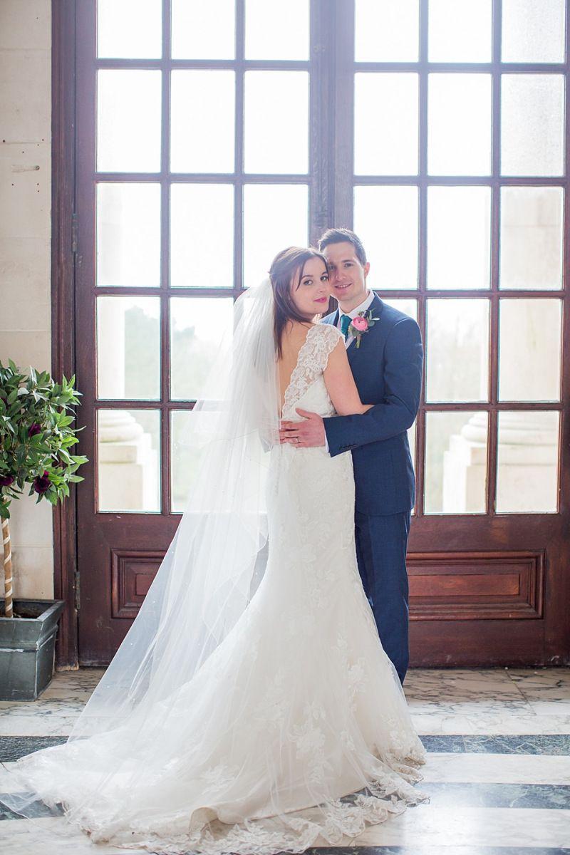 Handmade wedding dress  A Justin Alexander Dress for a Colour Burst Handmade Wedding