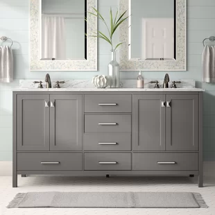 Photo of Andover Mills Minnetrista 60″ Double Bathroom Vanity Set | Wayfair