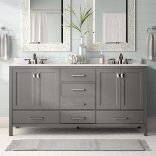 Photo of Andover Mills Minnetrista 60″ Double Bathroom Vanity Set | Wayfair