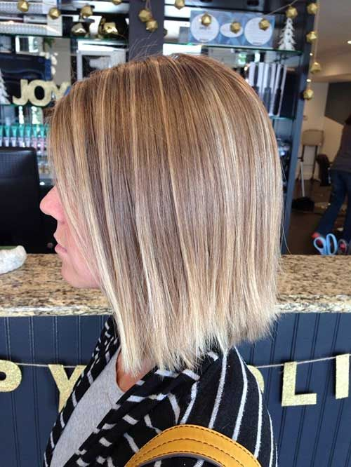 This Natural Blonde Balayage Looks Great On This Modern Layered Bob Hairstyle Description From Short Balayage Straight Hair Balayage Hair Short Hair Balayage