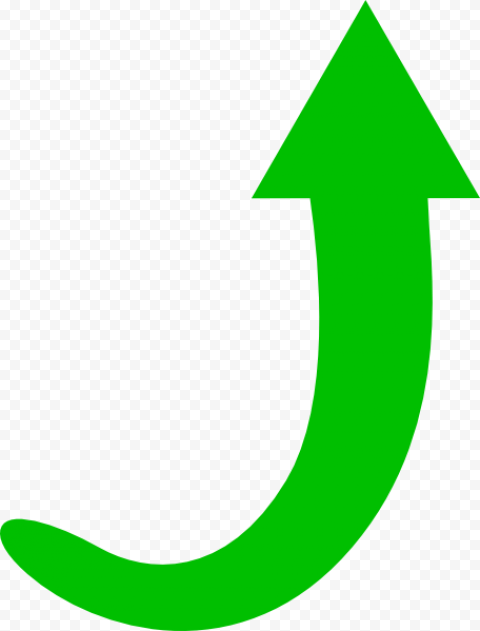 Curved Clear Green Arrow To Top Green Arrow Clip Art Png Photo