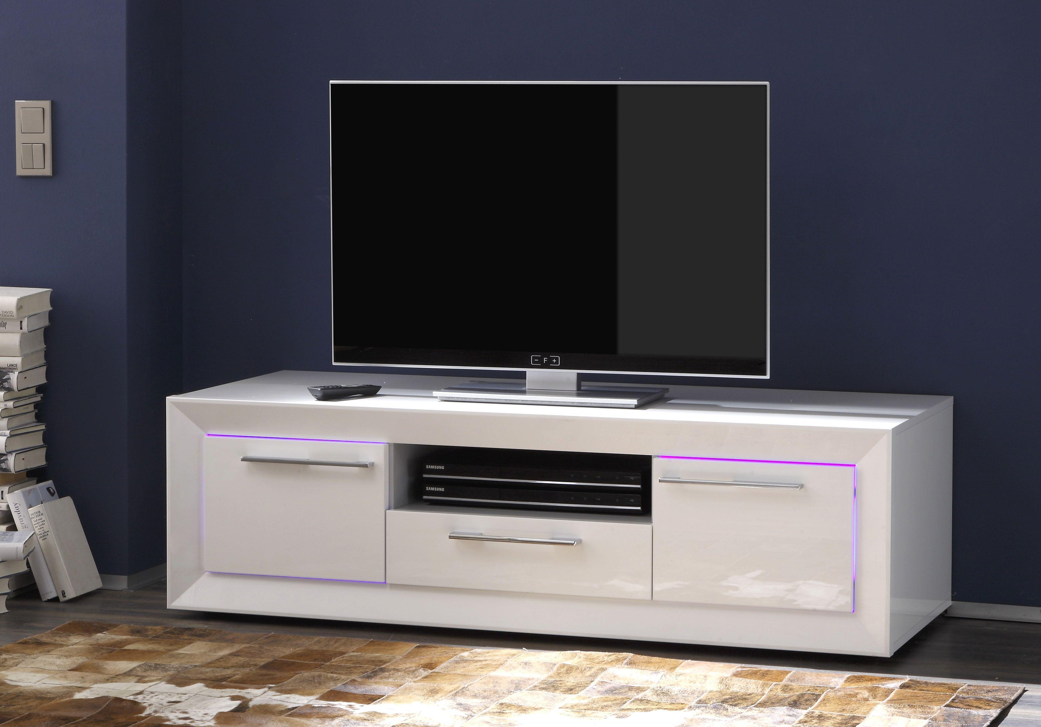 Etourdissant Meuble Tv 140 Cm Blanc Meuble Tv Design Meuble