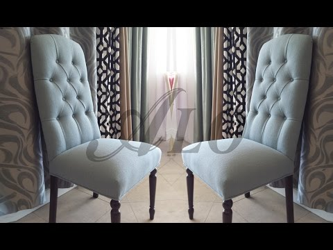 Diy How To Reupholster A Dining Room Chair With Buttons Alo Upholstery Youtube Reupholster Dining Room Chairs Dining Room Chairs Dining Room Chairs Modern