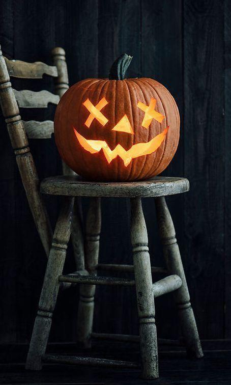 Une effrayante citrouille pour Halloween Halloween Pinterest