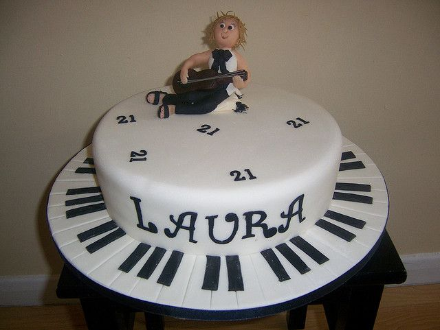 Black White Music Cake Music cakes Cake and Birthday cakes